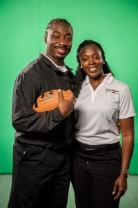 Marcus Lattimore with His Mother Yolanda